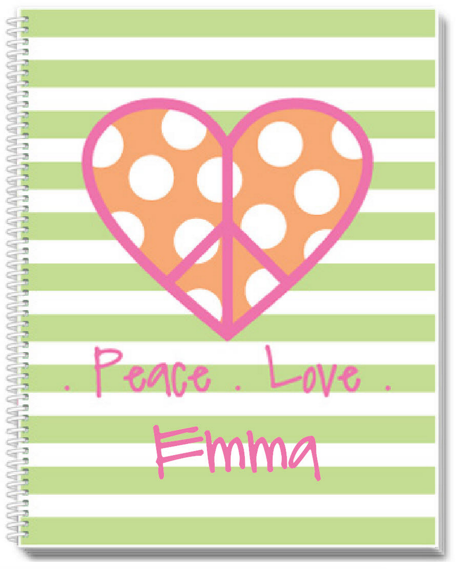 Peace and Love Sketchbook - frecklebox