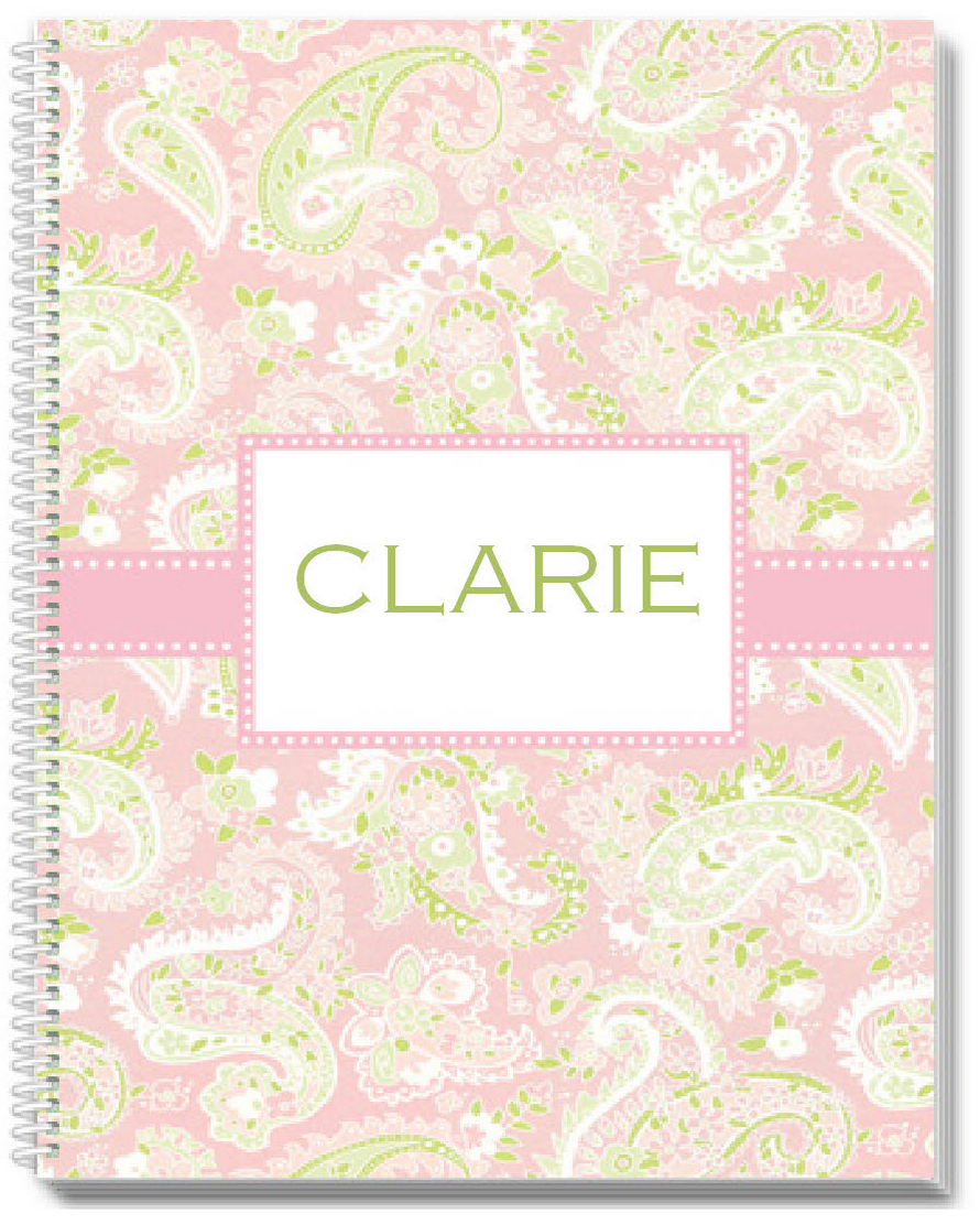 Pink Paisley Sketchbook - frecklebox