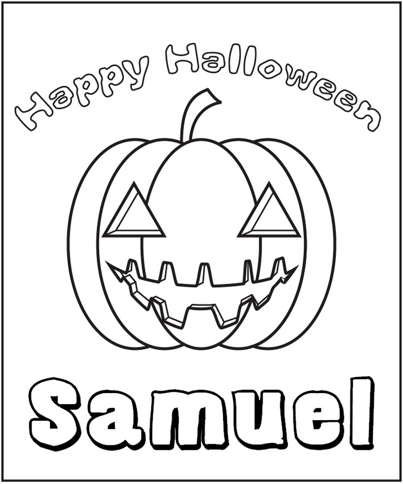 Halloween Pumpkin Coloring Page - frecklebox