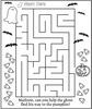 Spooky Maze Coloring Page - frecklebox