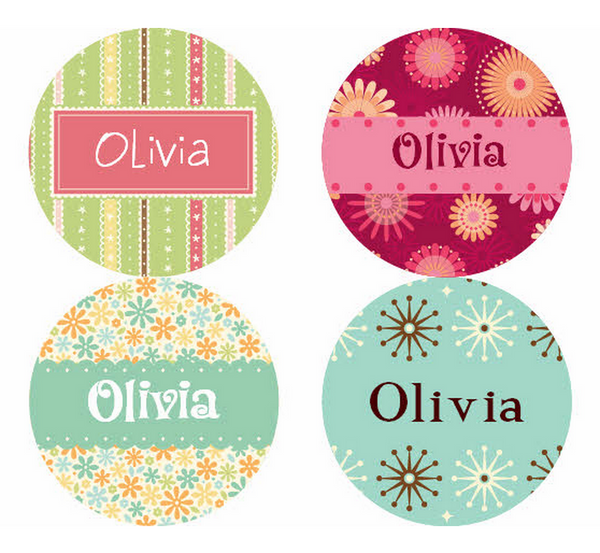 Caleb Pattern Personalized Stickers - frecklebox