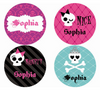 Caleb Punk Princess Personalized Stickers - frecklebox