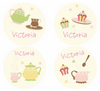 Caleb Tea Party Personalized Stickers - frecklebox