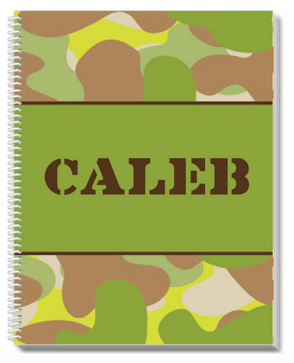 Camo Sketchbook - frecklebox