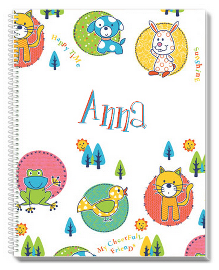 Cheerful Friends Notebook - frecklebox