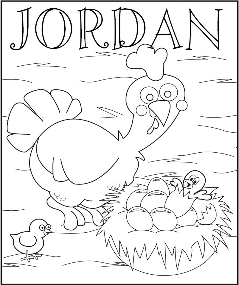 Chickens Coloring Page - frecklebox