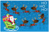 Santa & Reindeer Placemat - frecklebox