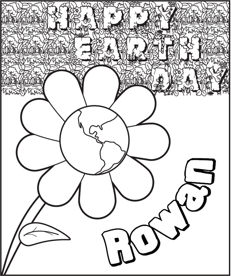 earth flower coloring pages - photo#11