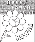 Earth Day Flower Coloring Page - frecklebox