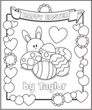 Easter Coloring Page - frecklebox