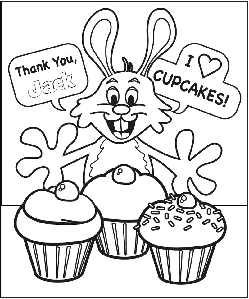 Easter Rabbit Coloring Page - frecklebox