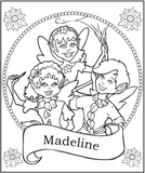 Fairy Friends Coloring Page - frecklebox