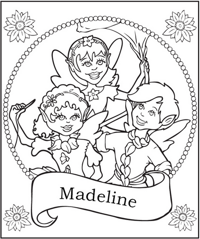 Fairy Friends Coloring Page