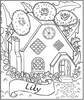 Fairy House Coloring Page - frecklebox