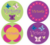 Flower Garden Personalized Stickers - frecklebox