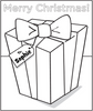 Holiday Gift Coloring Page - frecklebox