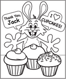 I love Cupcakes Coloring Page - frecklebox
