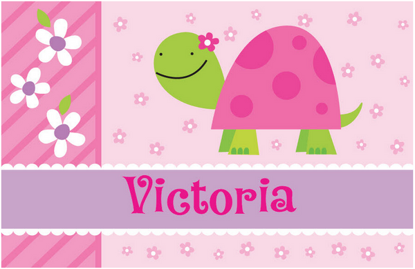 personalized placemats for kids turtle