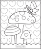 Valentine's Butterfly Garden Coloring Page - frecklebox
