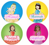 Princesses Personalized Stickers - frecklebox