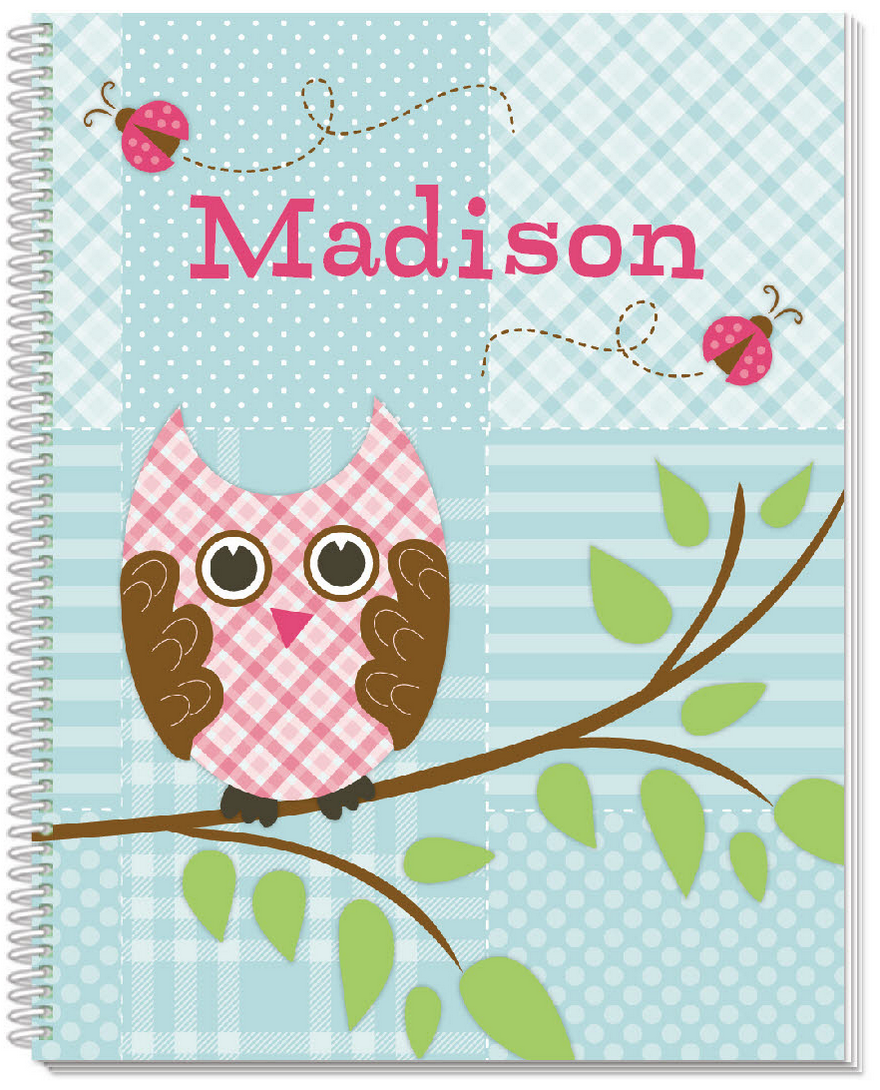 Quilted Owls Sketchbook - frecklebox
