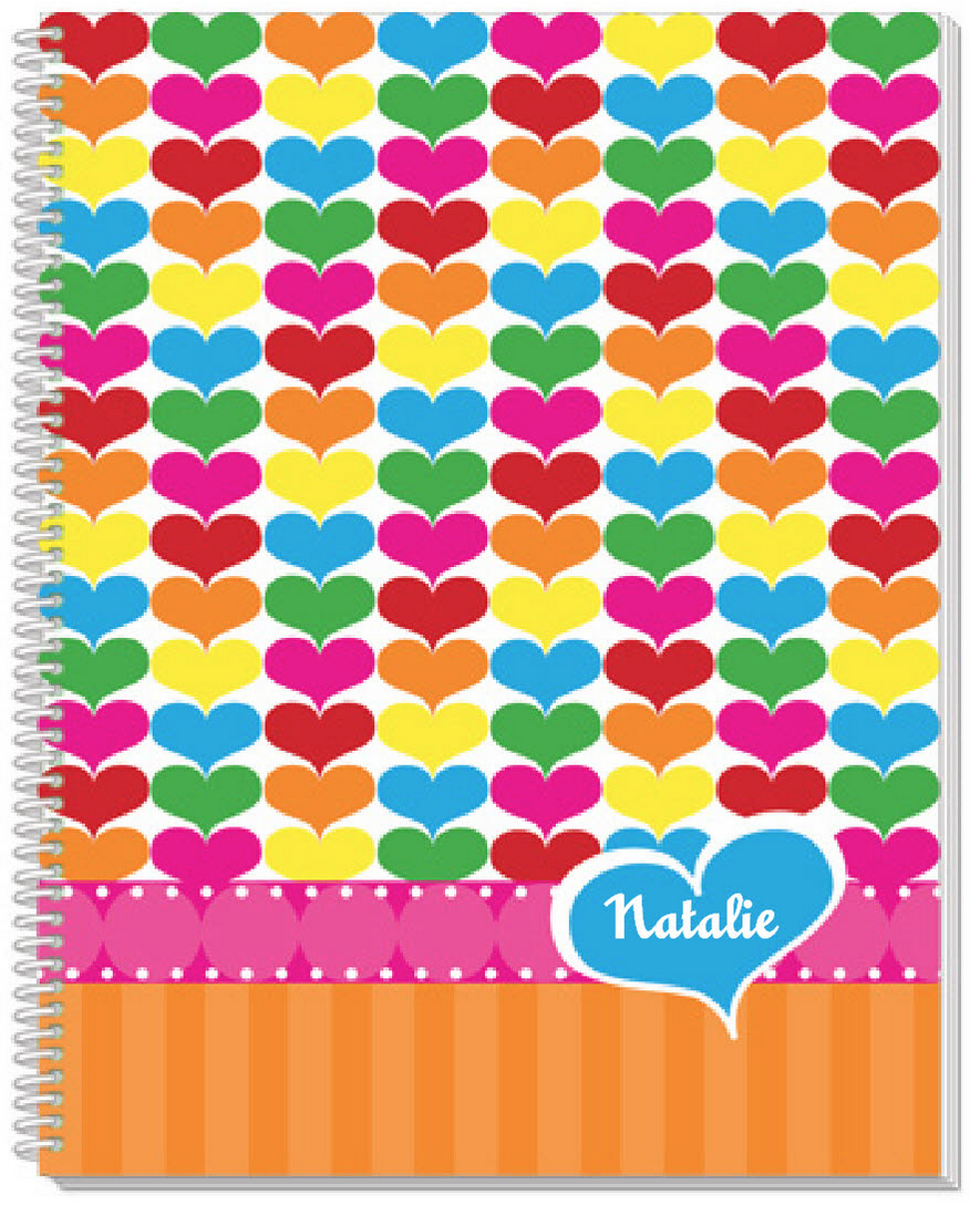 Rainbow Hearts Sketchbook - frecklebox