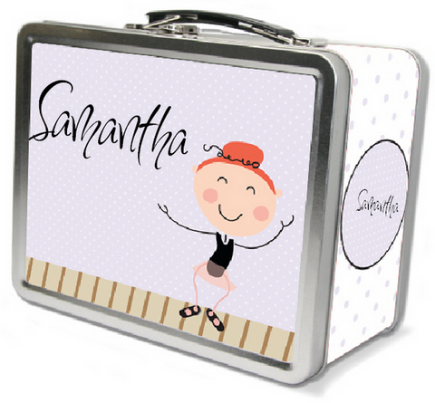 Red Hair Tap Dancer Lunch Box