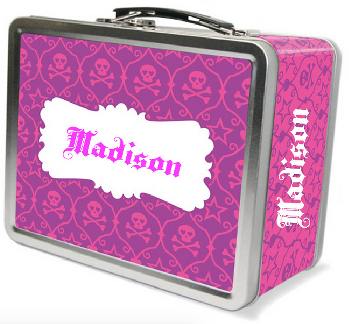 Skull Damask Lunchbox - frecklebox