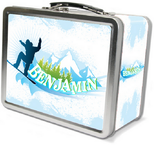 Snowboard Lunch Box - frecklebox