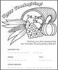 Thanksgiving Cornucopia Coloring Page - frecklebox