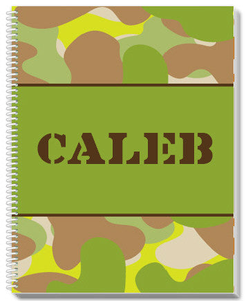 Camo Notebook - frecklebox