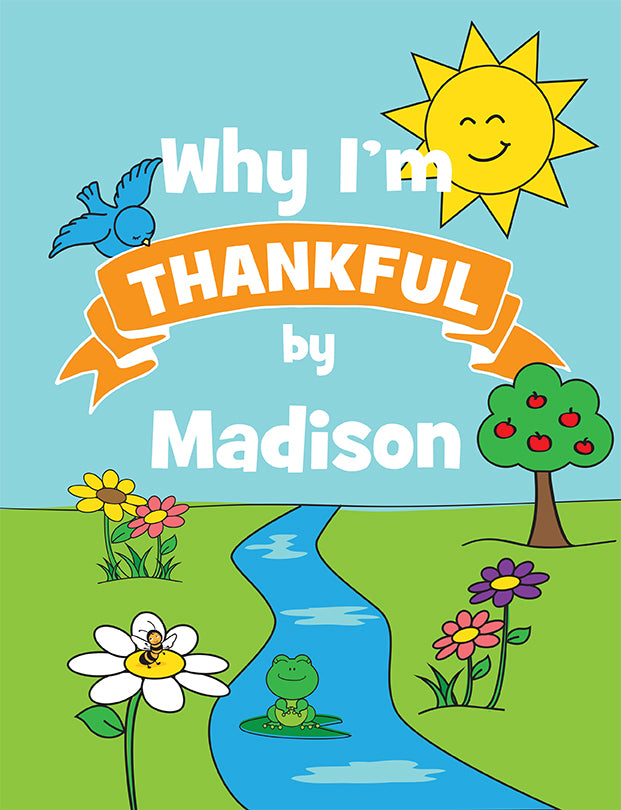 Why I'm Thankful Personalized Coloring Book - frecklebox