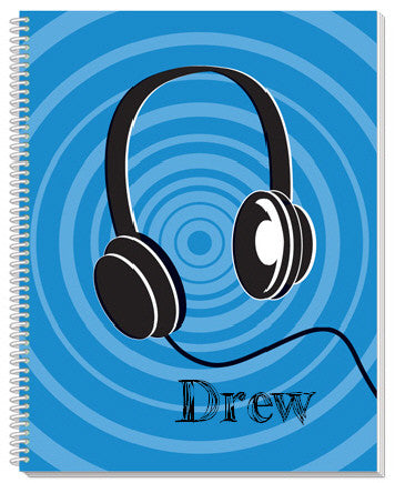 Headphones Notebook - frecklebox