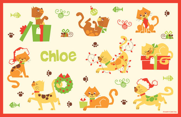 Christmas Cats Placemat - frecklebox