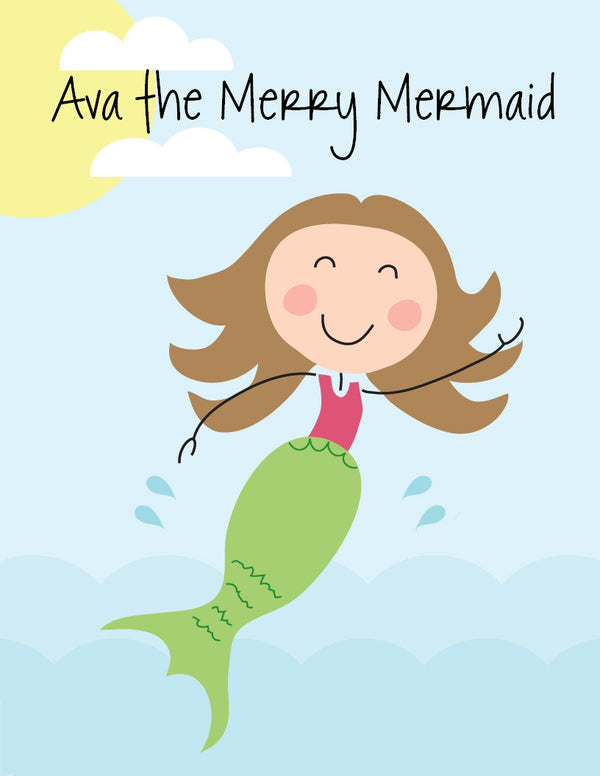 Mermaid Coloring Book - frecklebox