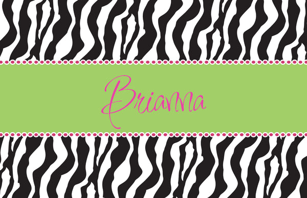 Zebra Placemat - frecklebox