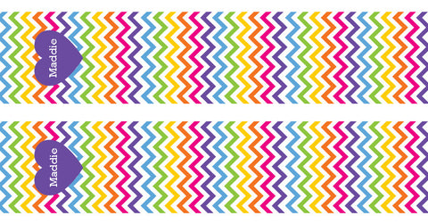Rainbow Chevron Bookmarks