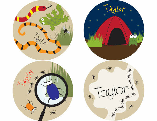 Camping Out Personalized Stickers - frecklebox