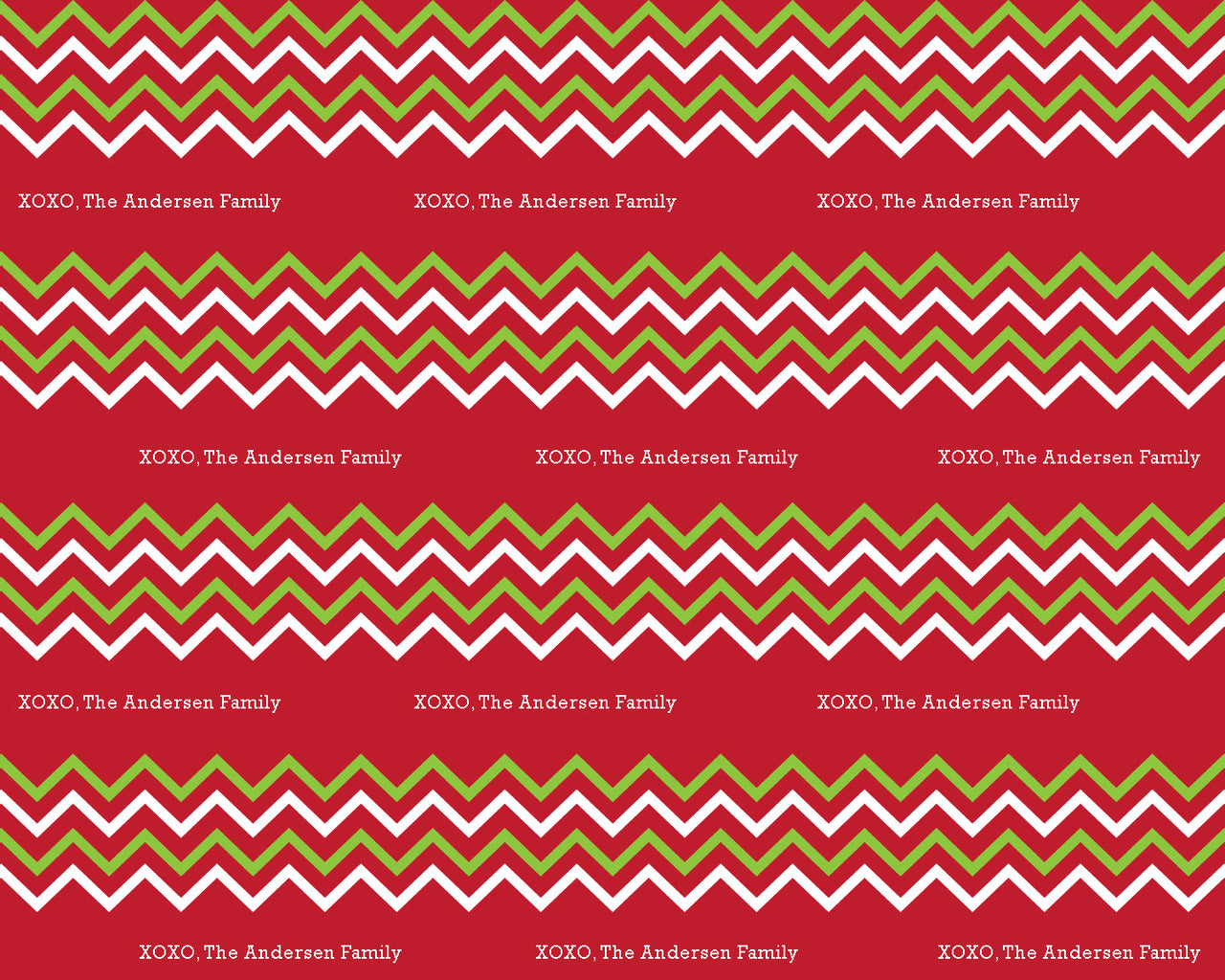 Christmas Chevron Wrapping Paper 6ft - frecklebox