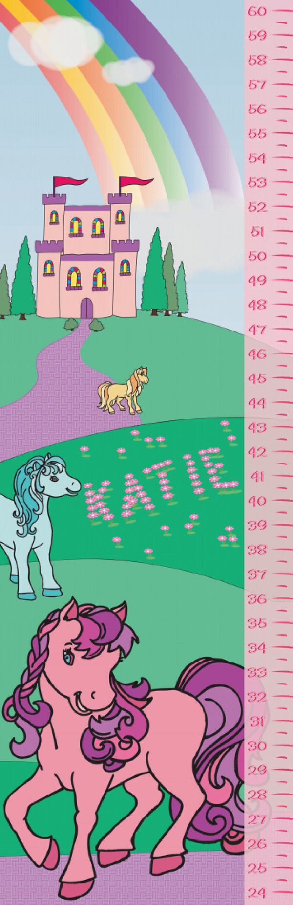 Castle and Ponies Growth Chart - frecklebox