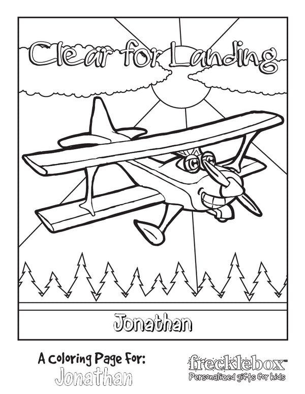 Clear for Landing Coloring Page - frecklebox