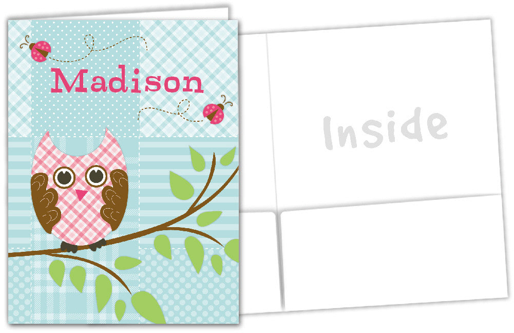 Quilted Owls Folder - frecklebox