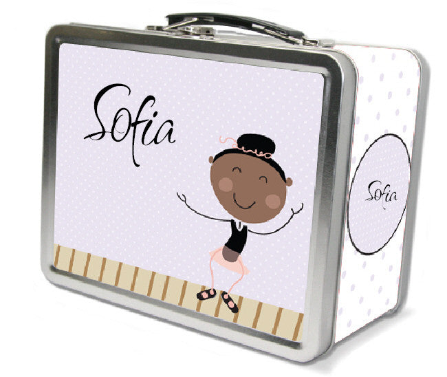 Black Hair Tap Dancer Lunch Box - frecklebox