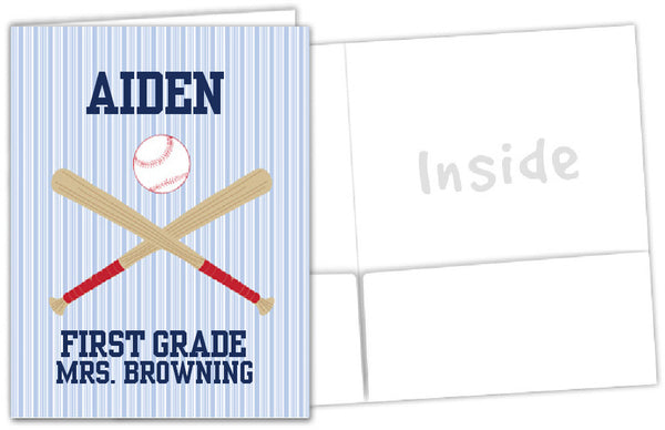 Baseball School Folder - frecklebox