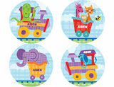 Alphabet Train Personalized Stickers - frecklebox - 1
