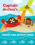 Pirate Fish Coloring Book - frecklebox