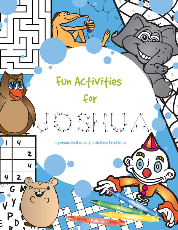 Activity Personalized Coloring Book - frecklebox