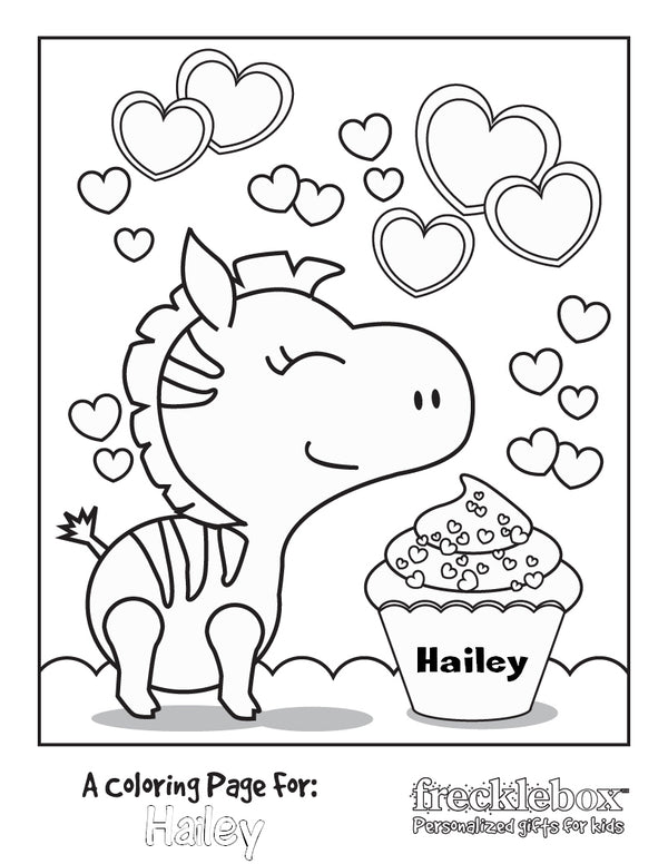 Free Coloring Pages For Girls - Personalized From Frecklebox– Frecklebox
