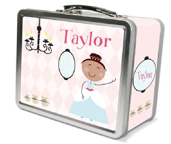 Brown Hair Glam Princess Lunch Box - frecklebox