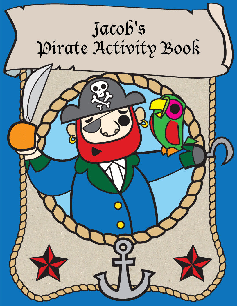 Pirate Coloring Book - frecklebox